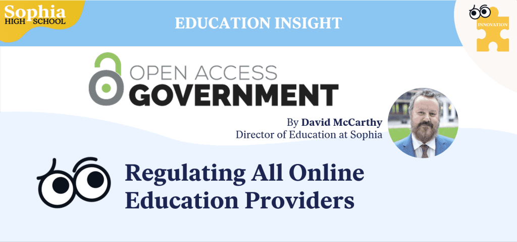 Regulating Online Education Providers