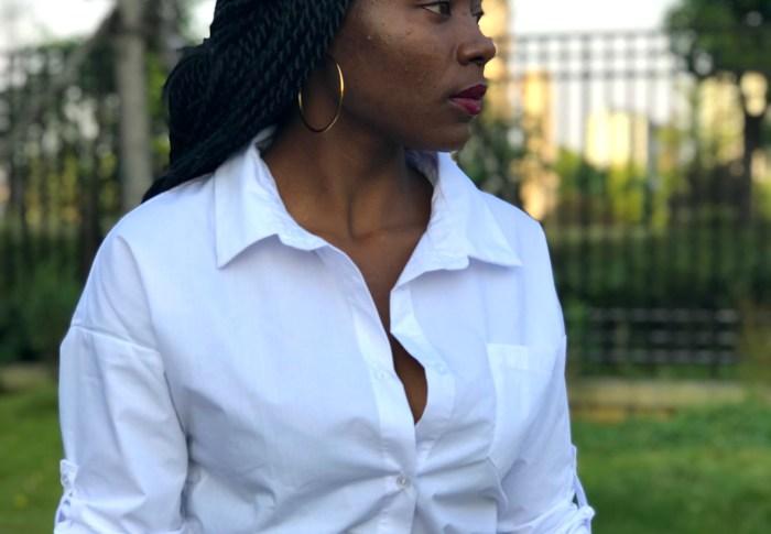 Idée de tenue; Une chemise oversize. BIRTHDAY BLOG SERIES VINGT TROIS