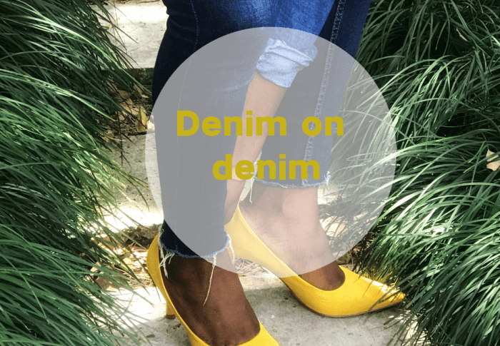 COMMENT PORTER DU JEAN EN HAUT ET EN BAS OU ALORS DENIM ON DENIM