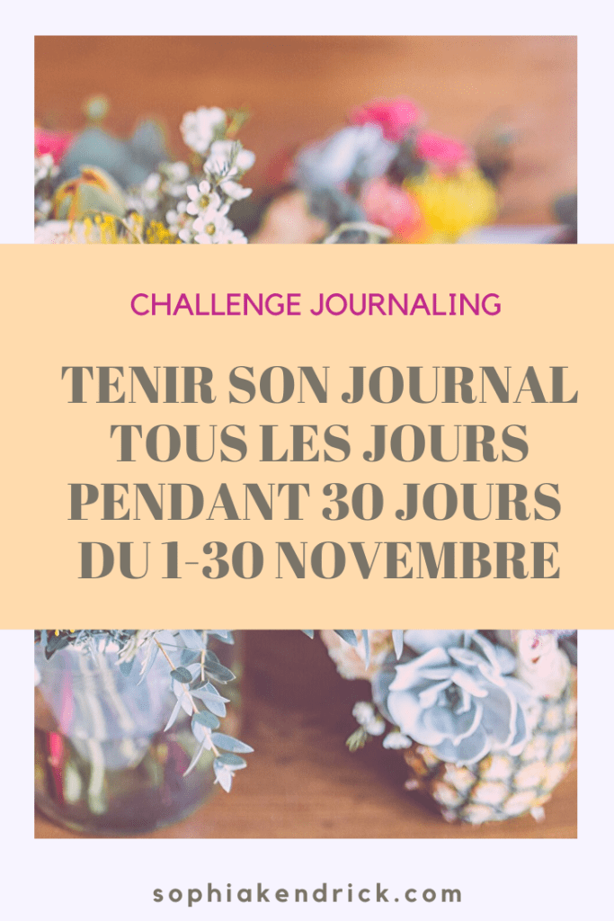 challenge, blog, journaling, sophia