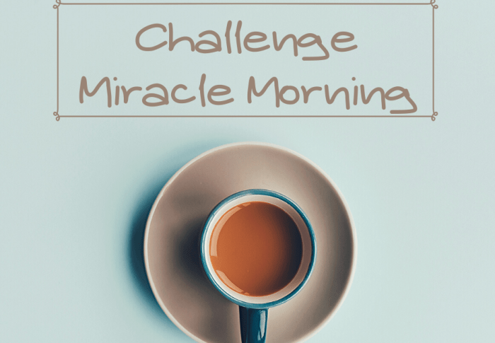 CHALLENGE « MIRACLE MORNING », C'EST PARTI !