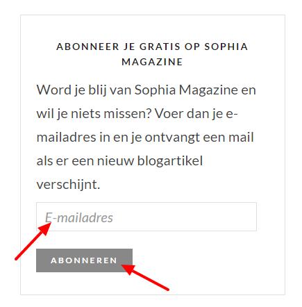 Abonneer-je SophiaMagazine