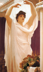 Beautiful Woman in the Sunlight Invocation, by Frederic, Lord Leighton.