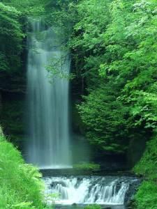 The waterfalls at Glencar Lough (courtesy of PDPhoto via Creative Commons)