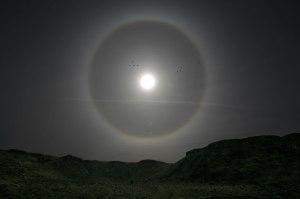 Halo around the Sun in Utah [photo image from U.S. NASA, seen via National Ice & Snow Data Center]