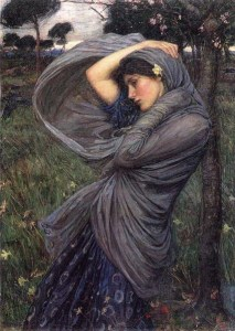 Boreas, by John William Waterhouse (1903), Image courtesy of WikiCommons.