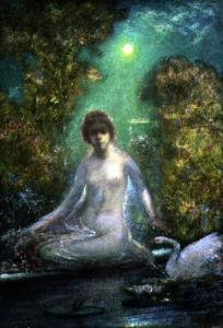 Leda and the Swan [by Elliot Daingerfield, 1859–1932]