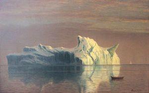 The Iceberg, by Albert Bierstadt (1830-1902). Photo courtesy WikiCommons.