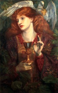 The Damsel of the Holy Grail (1874), by Dante Gabriel Rossetti.