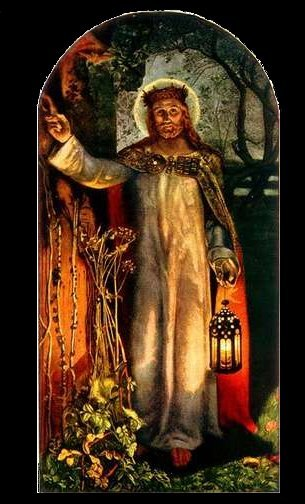The Light of the World (Detail), c. 1900-1904, in St. Paul's Cathedral, London. By William Holman Hunt.