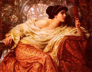 The Mirror, 1896. An exquisitely beautiful painting by Sir Francis Bernard Dicksee. [Image Courtesy of WikiMedia]