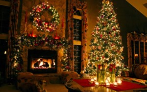 Christmas Hearth-Fire and Tree, Little Christmas Shop (WordPress).