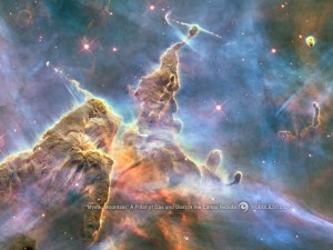 The Mystic Mountain nebula. Photo courtesy of the Hubble Heritage project, NASA.