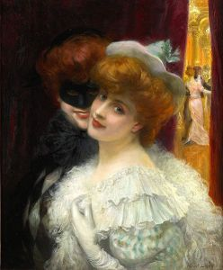 Le Bal Masque (The Mask Ball), 1862, by Albert Lynch (1851-1912)