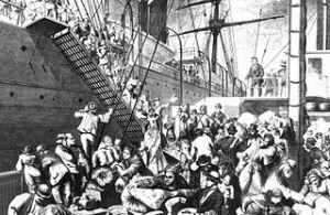 From Old World to New World. Arriving immigrants in 1874 depicted in Harper's Weekly's famous illustrations.
