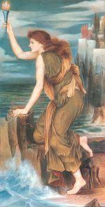 Hero Awaiting the Return of Leander, 1885, by Evelyn De Morgan.