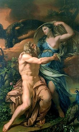 Jupiter and Juno, by Gavin Hamilton (1723-1798). Pubic domain image due to date prior to copyright term.