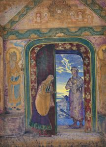 The Messenger, 1922, by Nicholas Roerich. Roerich Museum, NY, NY. www.roerich.org.