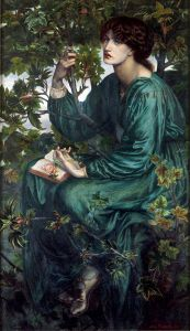 The Daydream, 1880, by Dante Gabriel Rossetti. Public domain image courtesy of the Google Art Project and Wikimedia.