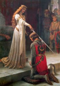 The Accolade, 1901, by Edmund Blair Leighton.