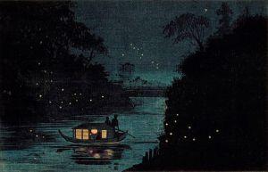 Fireflies at Ochanomizu, by Kobayashi Kiyochika (1847-1915). US-PD.