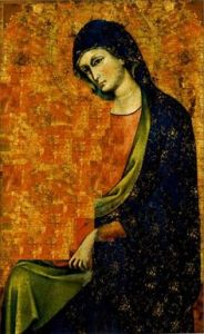 Madonna Between the Veils, by Meneghello di Giovanni de Canali (1383-1427). PD-US.