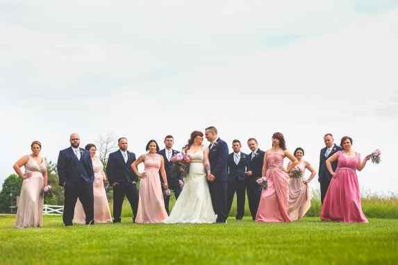 Bridal party, groomsmen, bridesmaids