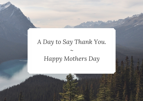 To Mum, thank you