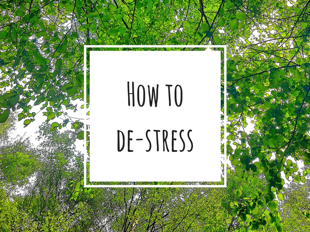My number one way to de-stress