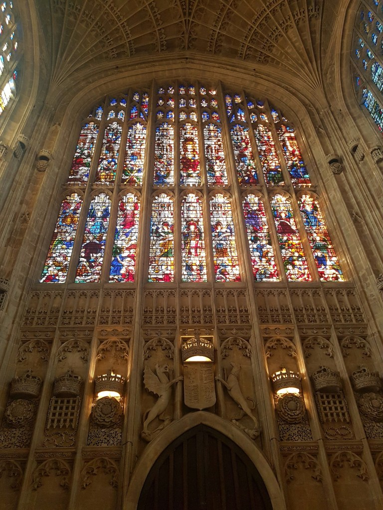 Kings College Chapel Stained Glass Window
