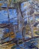"'Studio Windows #1' oil on canvas 20""x16"" by Sophia Yee"