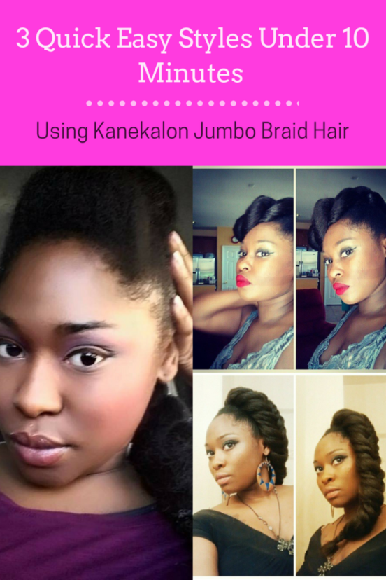 3 Quick Easy Styles Jumbo Braid Hairstyles In Under 10 Minutes