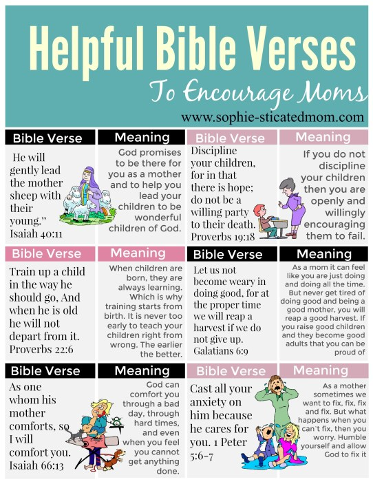 10 Of The Most Helpful Bible Verses To Encourage Moms