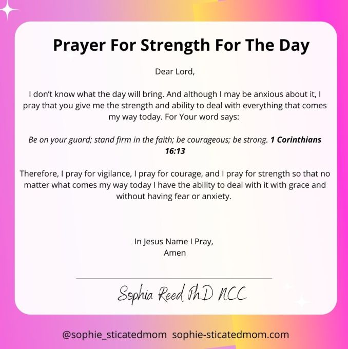 Prayers For Strength for the day