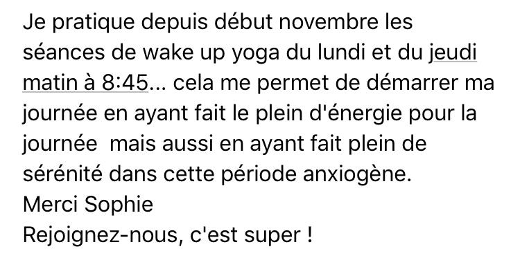 témoignage wake up yoga