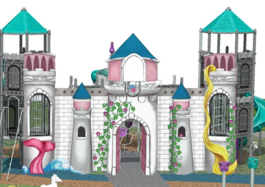 castle front details
