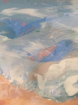 close up of a glass painting