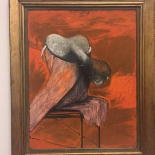 """Francis Bacon """"Three Studies for Figures at the Base of a Crucifixion""""(1/3)"""