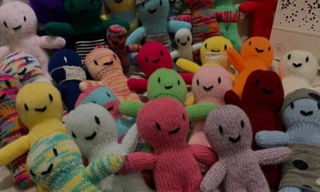 Relax with knitting and being in your own space