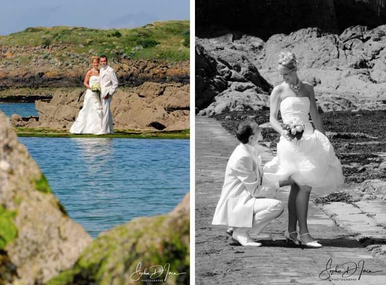 photo couple Mariage Bord de mer Bretagne Ille-et-vilaine morbihan