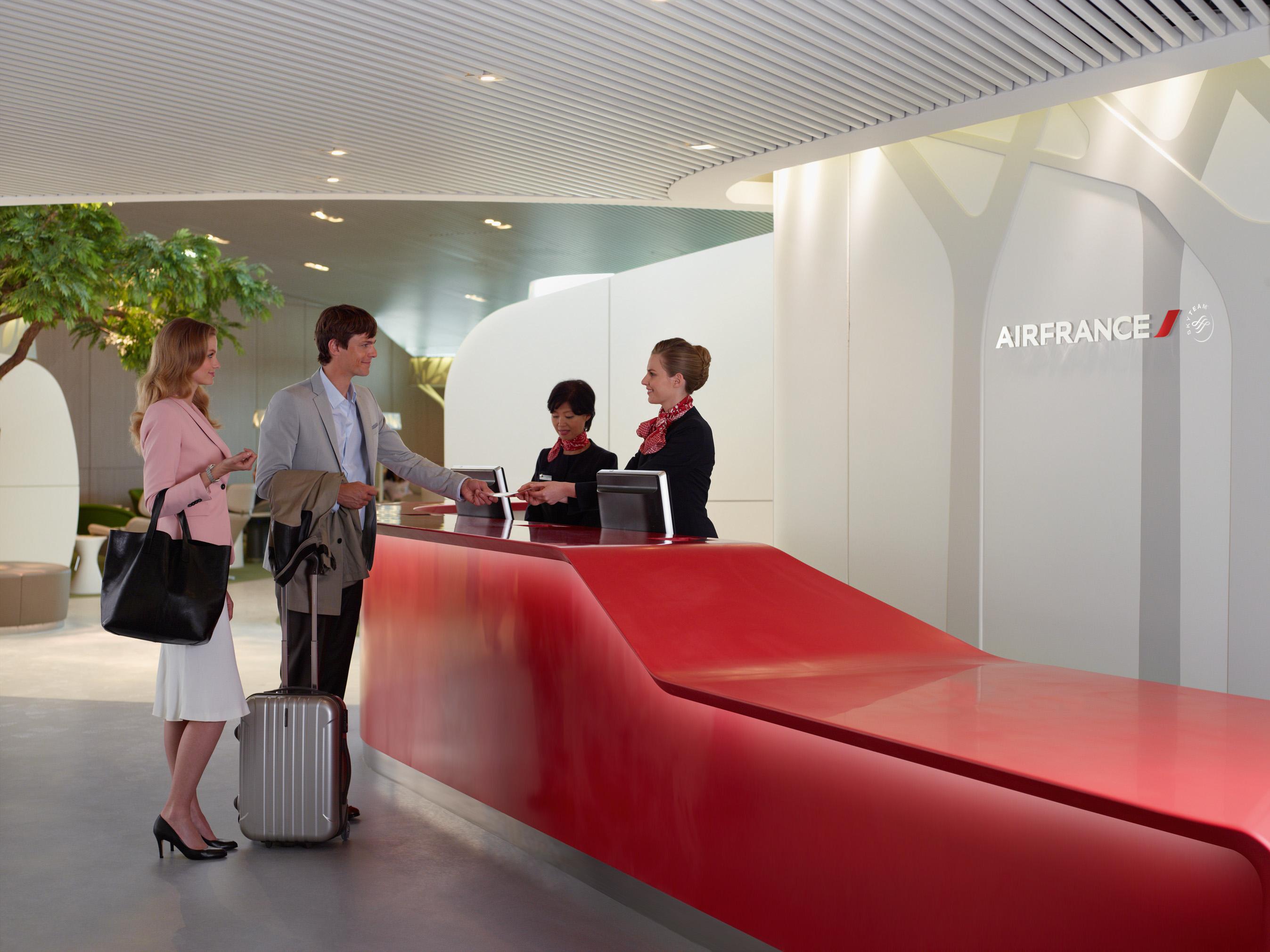 Visite du nouveau salon Air France dans le S4 services indits ambiance 100 nature et dtente