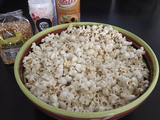Popcorn, makkelijk, snel, gluten- en lactosevrij