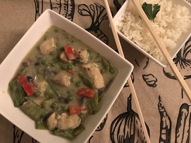Thaise groene curry met kipfilet