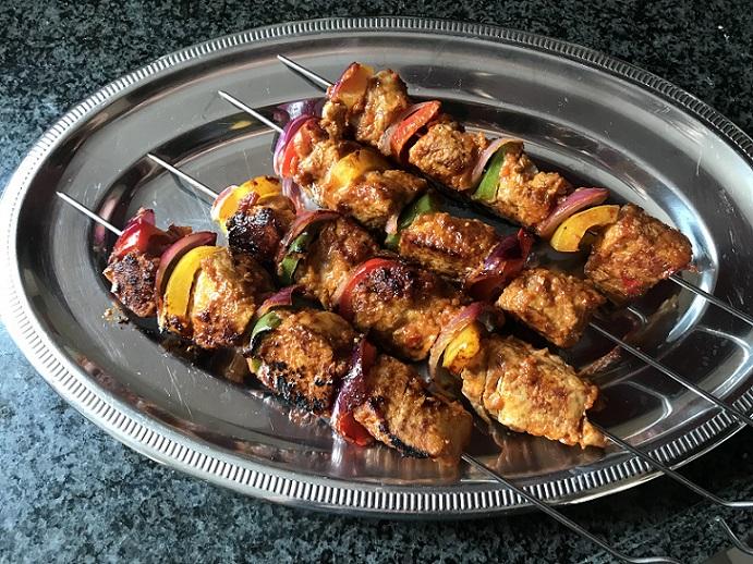 Shaslicks van varkenshaas, heerlijk voor op de barbecue