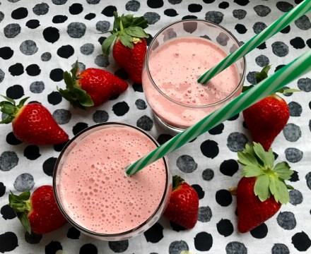 Lactosevrije aardbeien smoothie