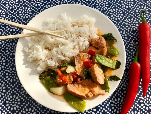 thaise varkenshaas curry