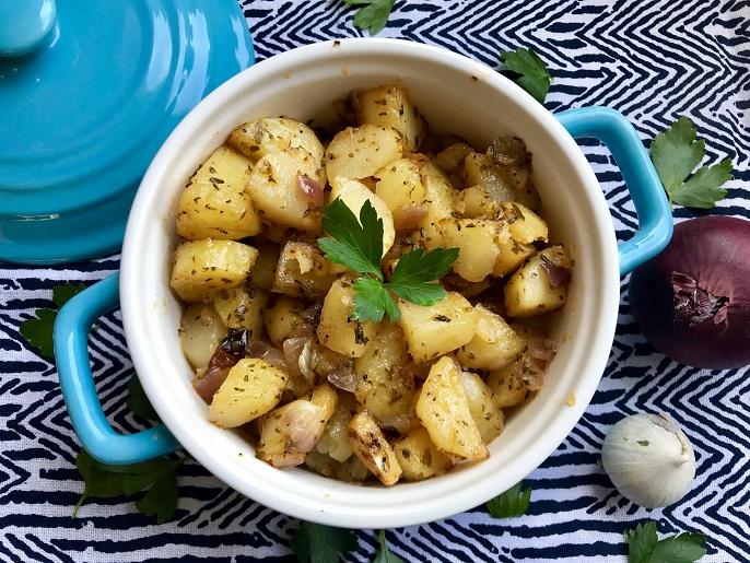Cajun aardappeltjes uit de oven