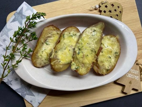 Roseval aardappels met mascarpone en tijm