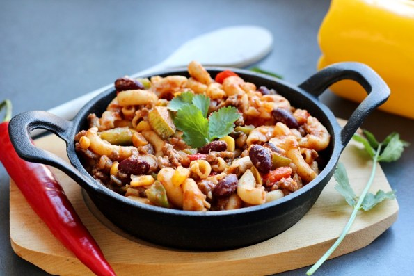 Mexicaanse chili macaroni