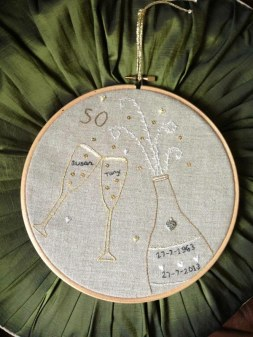 Janet Brown - 50th Wedding Anniversary gift - Personalised kit, designed by Sophie. 2013